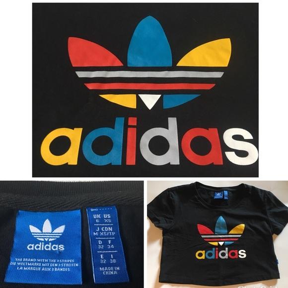 0d249aa9ee9 adidas Tops | Colorful Crop Top Sz Xs | Poshmark